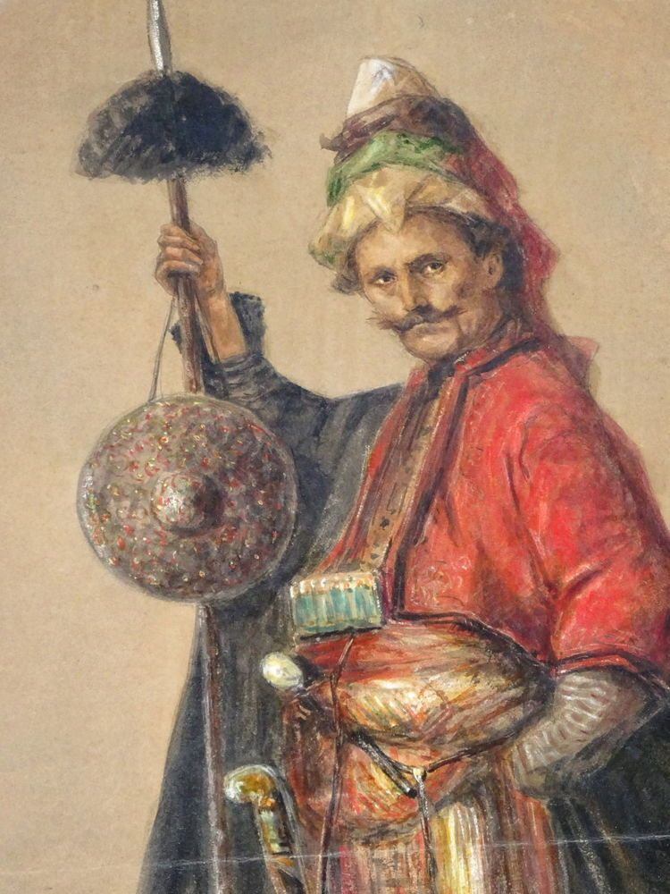 ORIENTALIST PAINTING OF TURKISH OTTOMAN JANISSARY SOLDIER VERY DETAILLED  | Art, Art from Dealers & Resellers, Paintings | eBay!