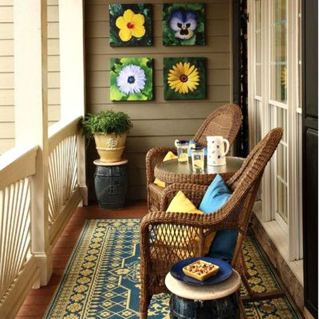 Awesome 42 Cozy Apartment Balcony Decorating Ideas. More ...