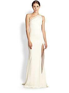 Badgley Mischka One Shoulder Gown Saks Fifth Avenue Mobile On