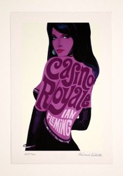 1960s James Bond Penguin Books cover prints - Casino Royale.  Several more can be seen on this page.
