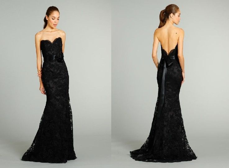 Long Mermaid Black Lace Evening Cocktail Formal Prom Party Dresses ...