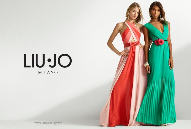 new arrival cc16e d6b5f Martha Hunt & Jasmine Tookes Team Up for Liu Jo's Spring ...