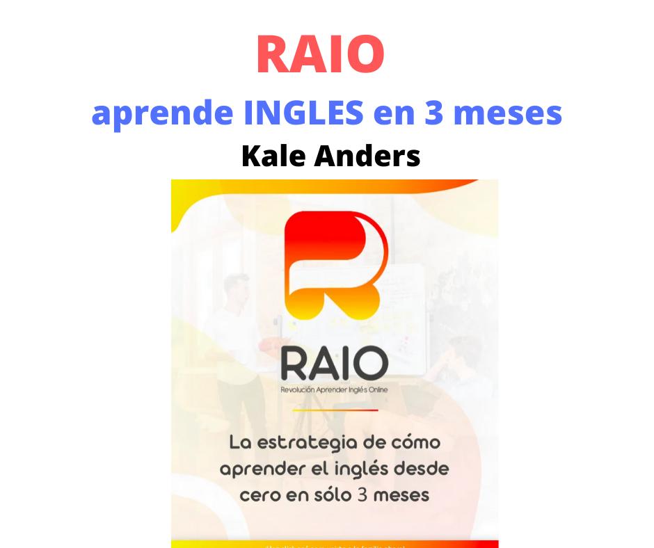 Raio Aprende Ingles En 3 Meses Kale Anders Descargar Aprendizaje Aprender Inglés Ingles