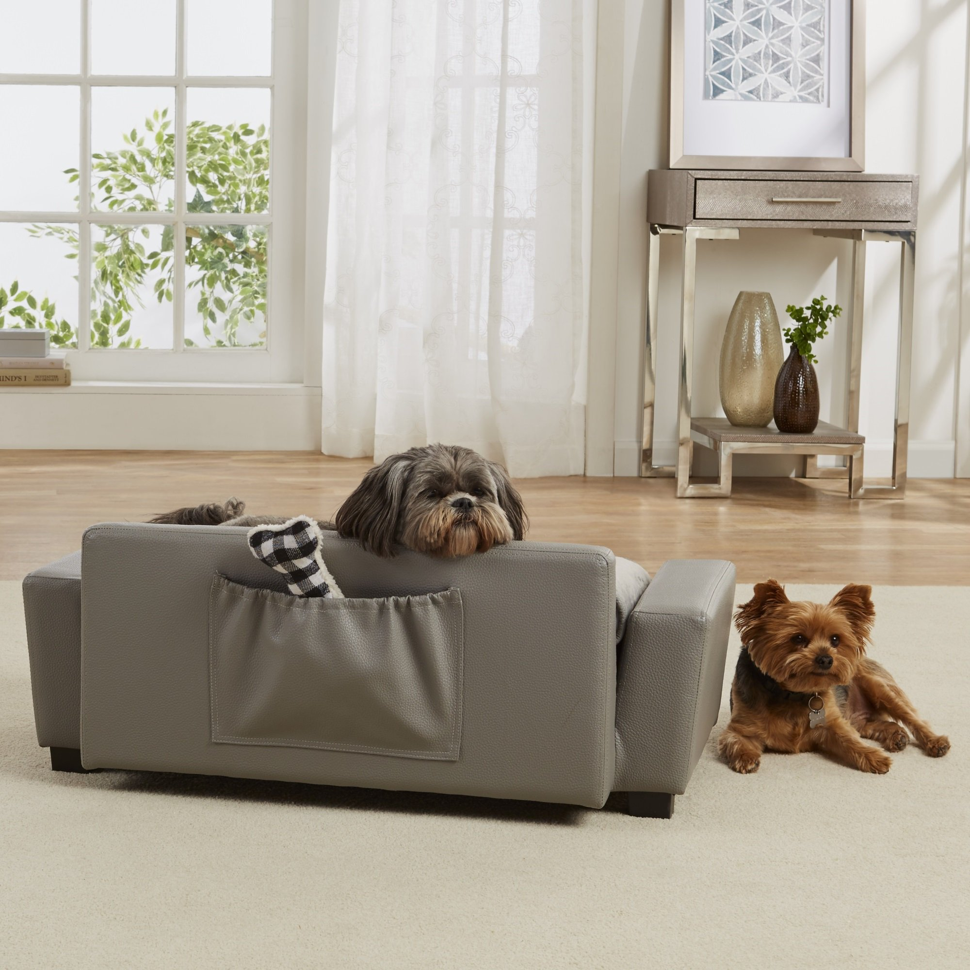 Enchanted Home Pet Grey Scout Pet Sofa 32 L X 17 25 W Dog Bed
