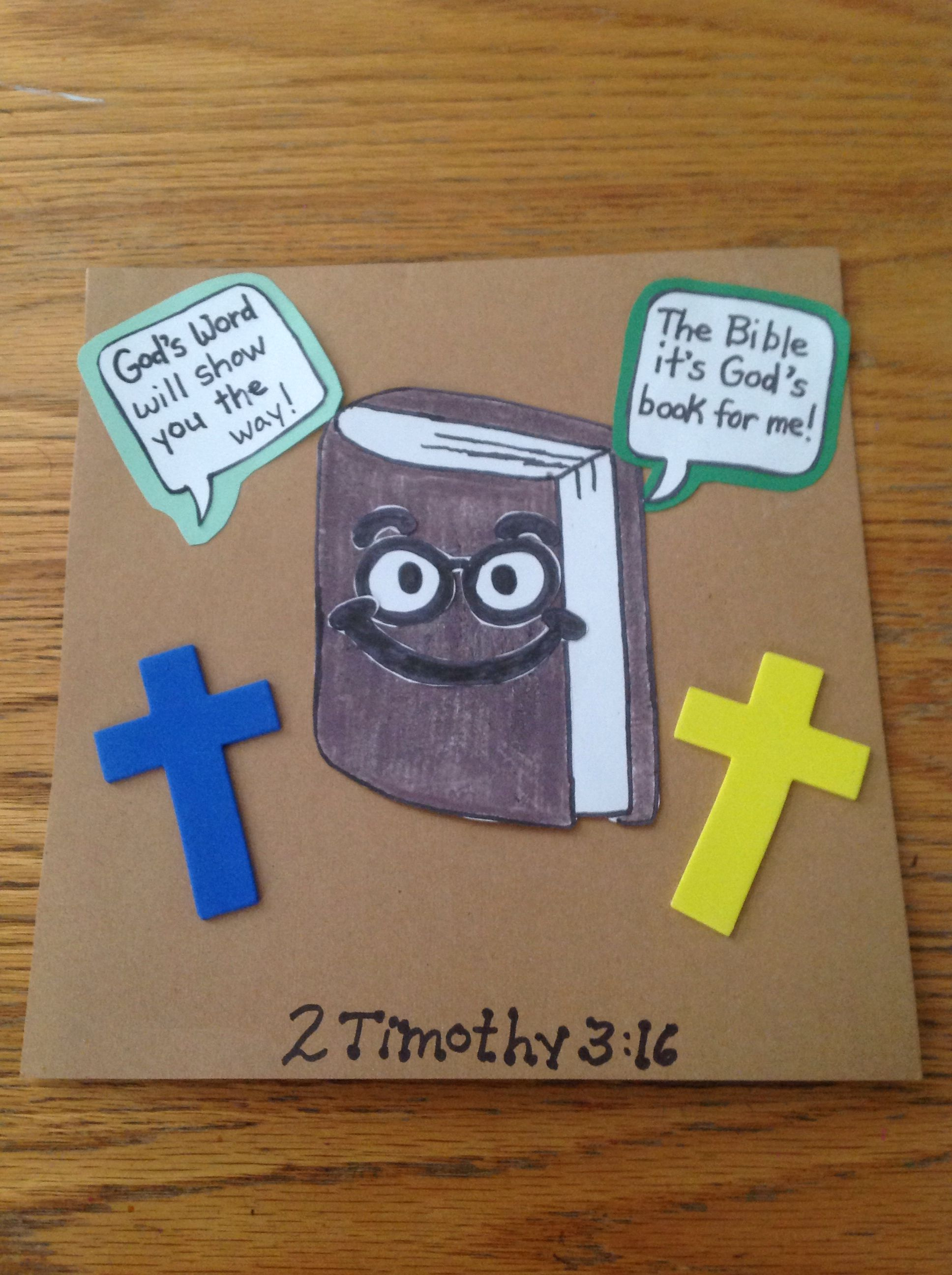 God S Word Bible Craft For Kids