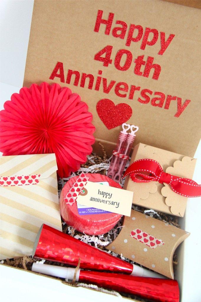 Happy 40th Anniversary Gift Idea 40th Anniversary Gifts 40th Wedding Anniversary Gifts Happy 40th Anniversary