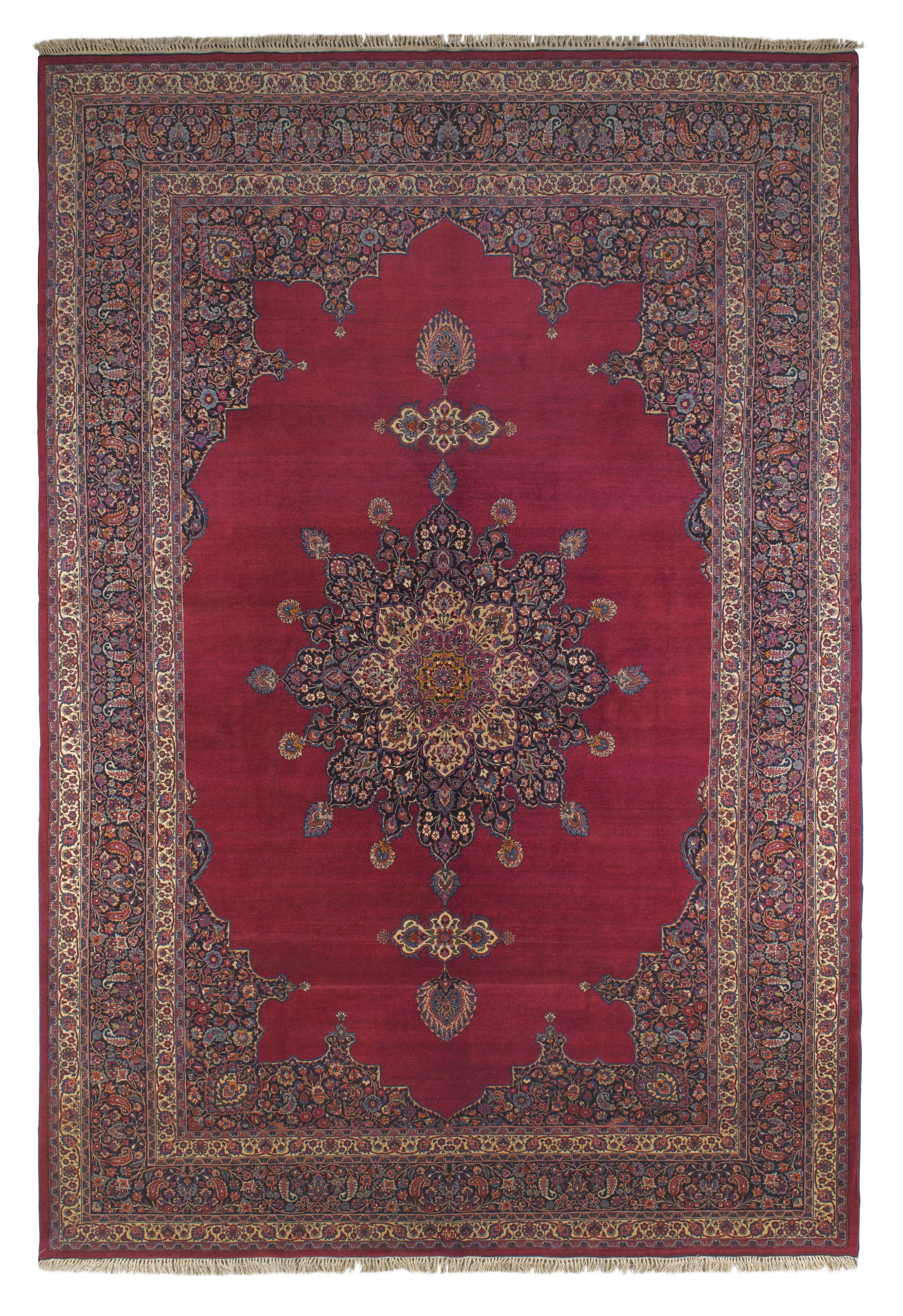 We Have A Mashad And We Love It Mashad Amoghli Carpet Northeast Persia Approx 12ft 2in 8ft 4in Mid Antique Persian Carpet Rugs On Carpet Carpet