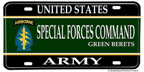 Us Army Special Forces Command Green Berets License Plate Green Beret Army Special Forces