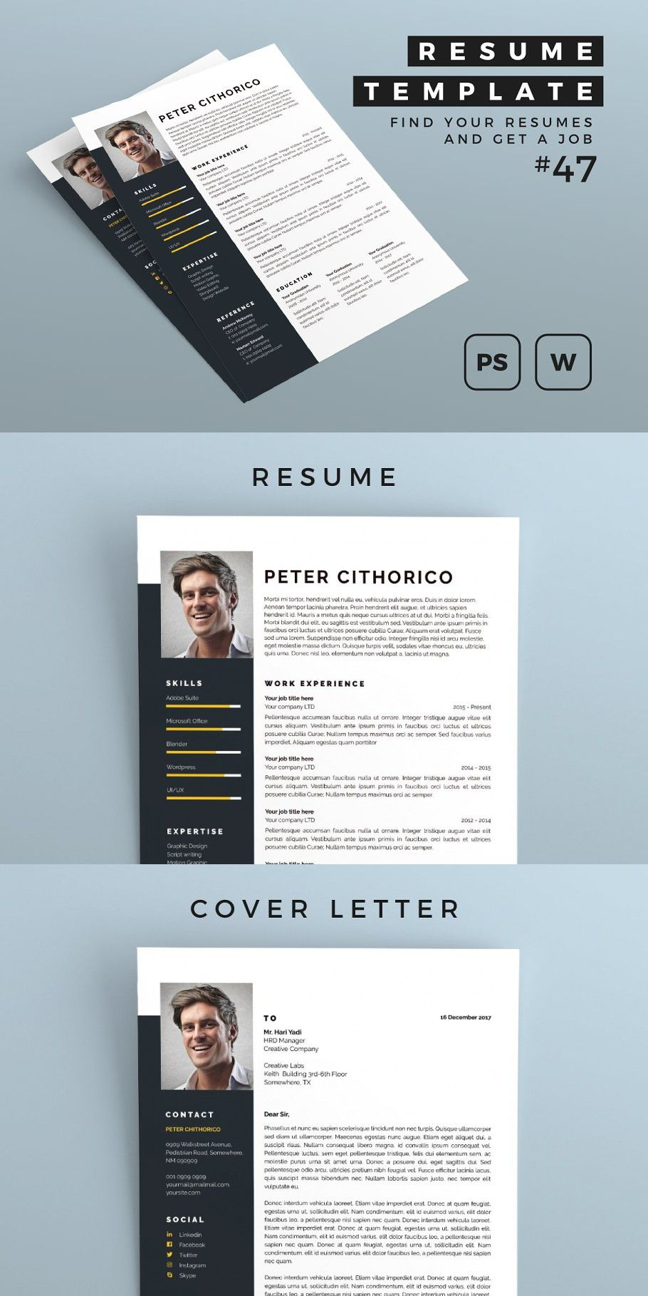 Resume 47 in 2020 Simple resume template, How to make