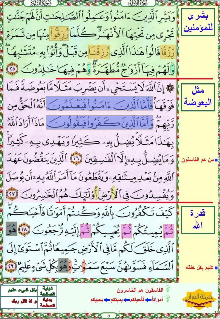 البقرة صفحة ٥ Quran Verses Quran Verses