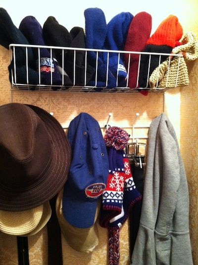 Hats taking over your closet?! Here are some easy closet #organizing ideas for beanies, caps, fedoras, hats of all kinds! | The-Organizing-Boutique.com