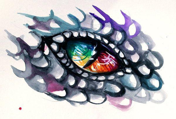 Rainbow Dragon Eye by Lucky978.deviantart.com on @deviantART
