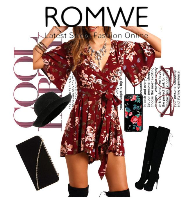 """""""Romwe 🖤"""" by rock-my-hillbilly ❤ liked on Polyvore featuring Chanel, Casetify, Dorothy Perkins, EyeBuyDirect.com, romwe, floralprint and jumpsuit"""