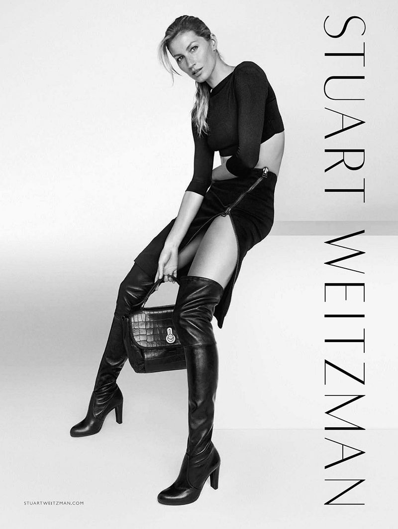 06fd3284d75 Gisele s Legs Steal the Show in Stuart Weitzman s Fall Campaign ...