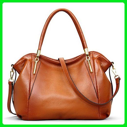 d8c52a6870e5 BIG SALE-AINIMOER Womens Leather Vintage Shoulder Bag Ladies Handbags Tote  Top-handle Purse Cross Body Bags(Sorrel) - Crossbody bags ( Amazon  Partner-Link)