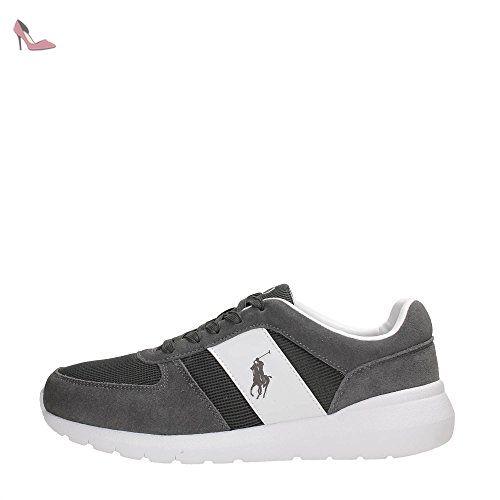 d12c1a8cf Homme Baskets Grise Chaussures Ralph Lauren Pour Daim En Cordell ...