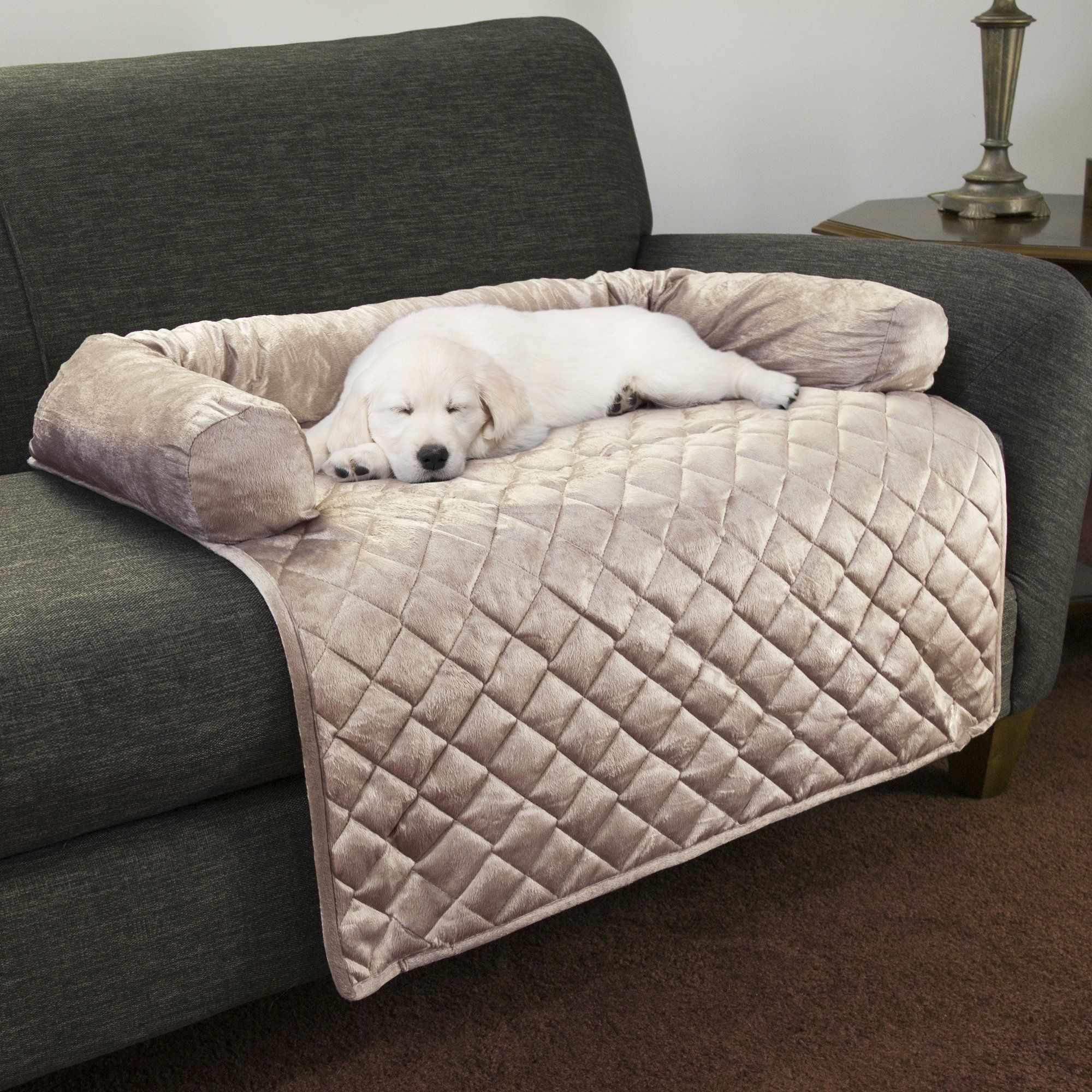 Petmaker Furniture Protector Pet Cover With Bolster In Beige For