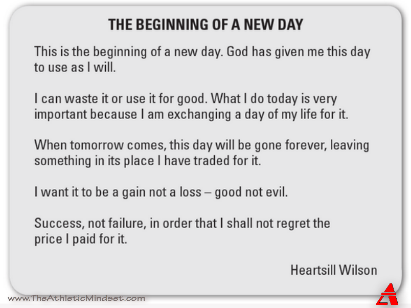 Beginning Of A New Day The Athletic Mindset New Day Quotes New Day How To Memorize Things