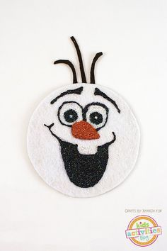 Recycled CD Olaf Craft #recycledcd