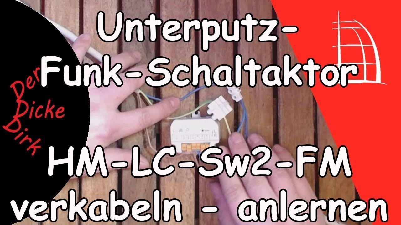 Funk-Schaltaktor 2-fach - verkabeln und anlernen | HM-LC-Sw2-FM ...