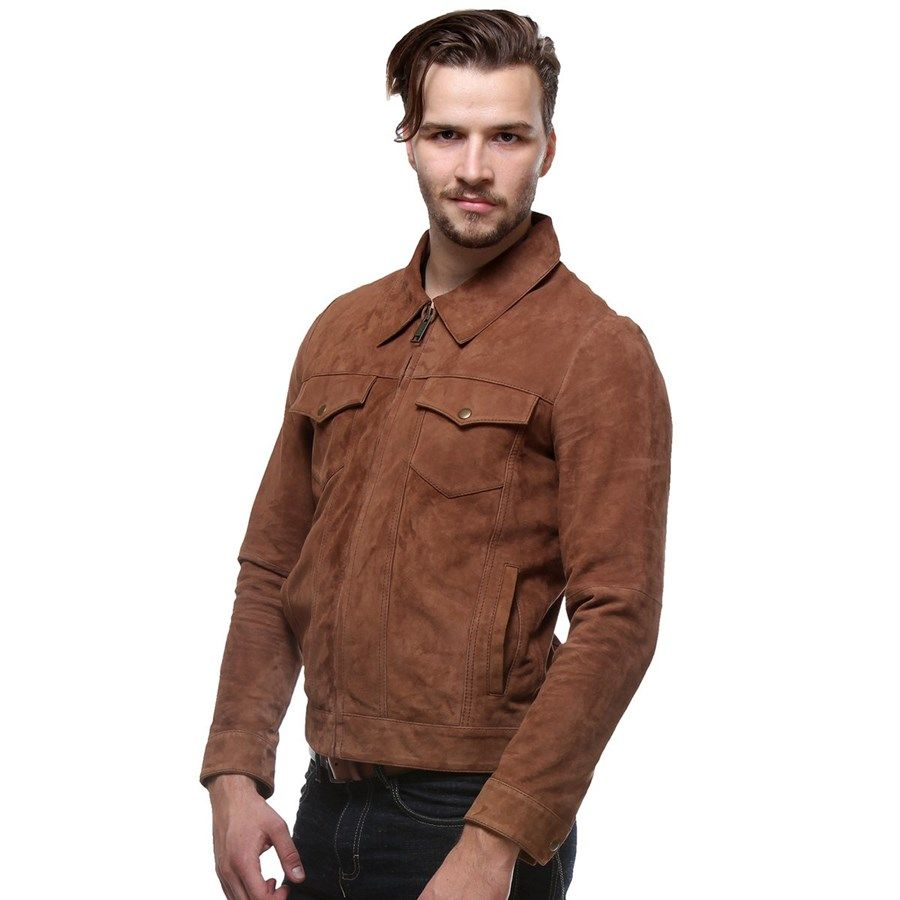 d0798ae121 Classic Suede  Leather  Jacket in Regular Fit by  Bareskin Online in India  at Best Price Rs.10
