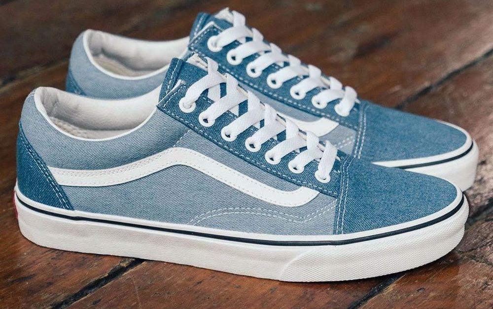 45e976c6de Men s Vans Old Skool Denim 2 Tone Canvas Skate Shoes. Size 12. NIB RRP   119.99  fashion  clothing  shoes  accessories  mensshoes  casualshoes  (ebay link)