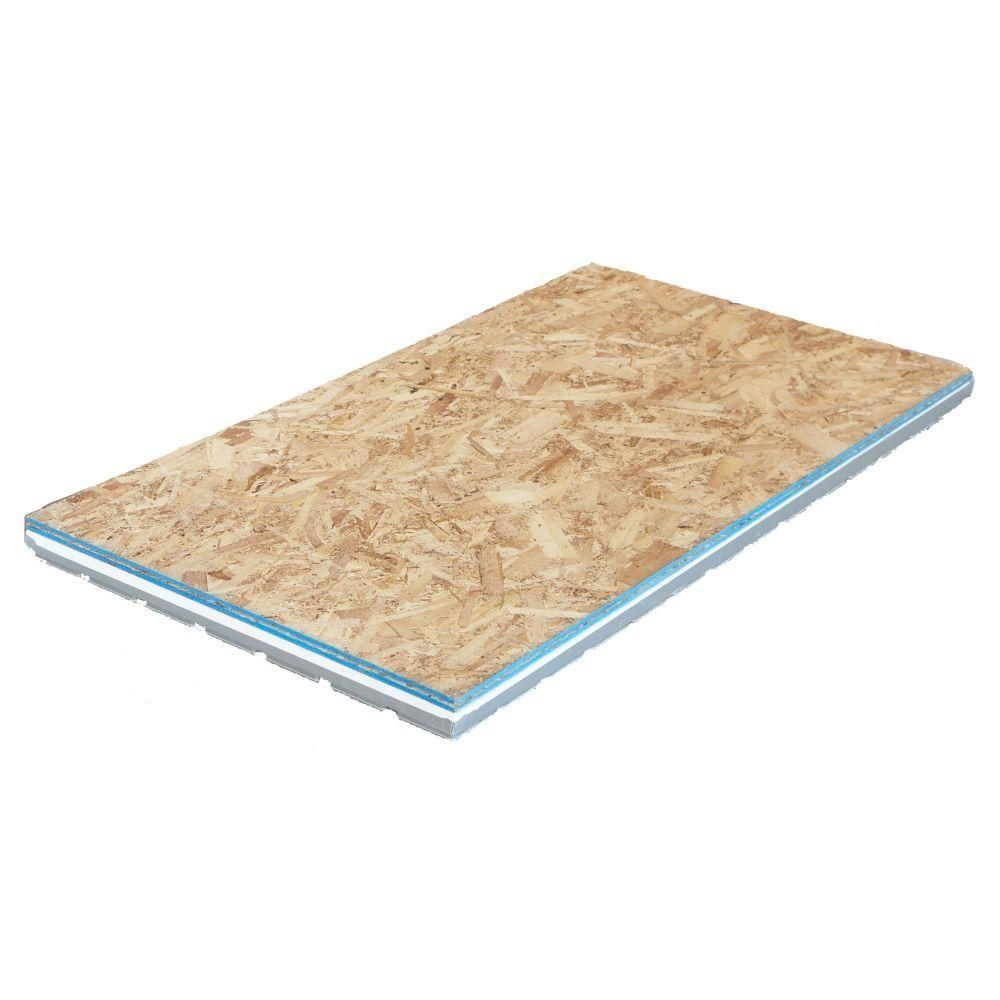 Amdry 2 09 In X 2 Ft X 4 Ft Osb Insulated R7 Subfloor Panel Amd0150g The Home Depot Basement Flooring Finishing Basement Osb