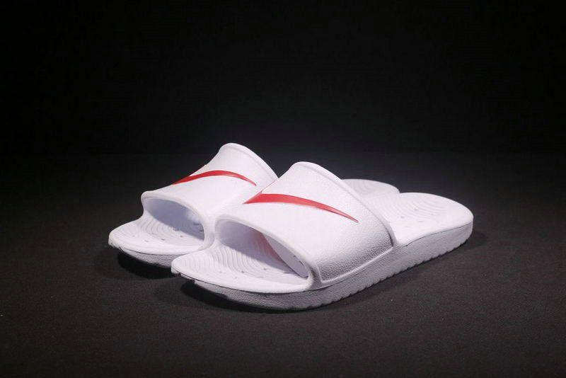 b00abd7d5eea69 2018-2019 Summer Authentic Official mens Nike Kawa Shower Benassi Swoosh  Comfort Sandals white