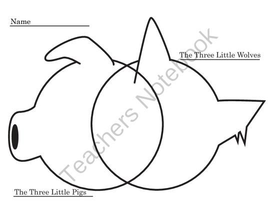 Free Venn Diagram For Three Little Pigs And Three Little Wolves From