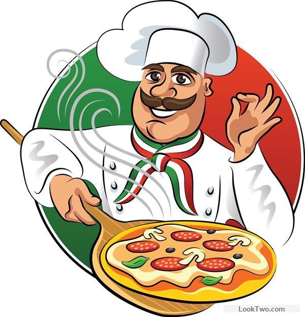 Chef With Pizza Vector Material Free Vector Download Desenho Pizzaria Logomarca Pizzaria Desenho