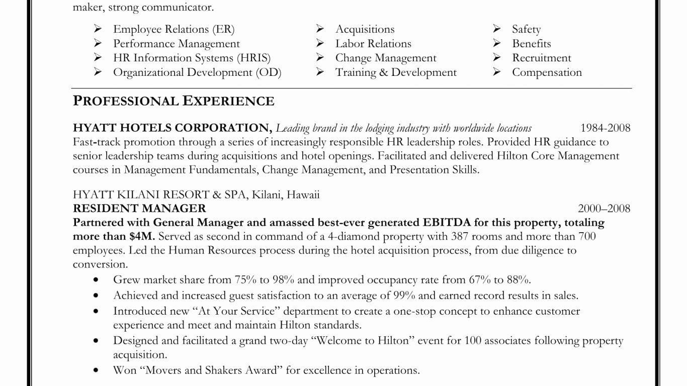 Entry Level Human Resources Resume New Human Resources Entry Level Resume Beautiful Human Resource In 2020 Project Manager Resume Human Resources Resume Manager Resume