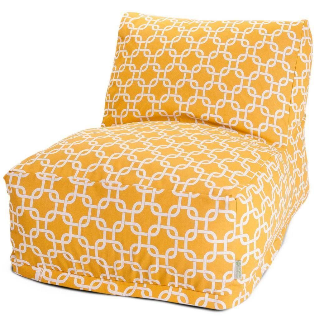 Majestic Home Goods Link Pattern Bean Bag Lounger Chair