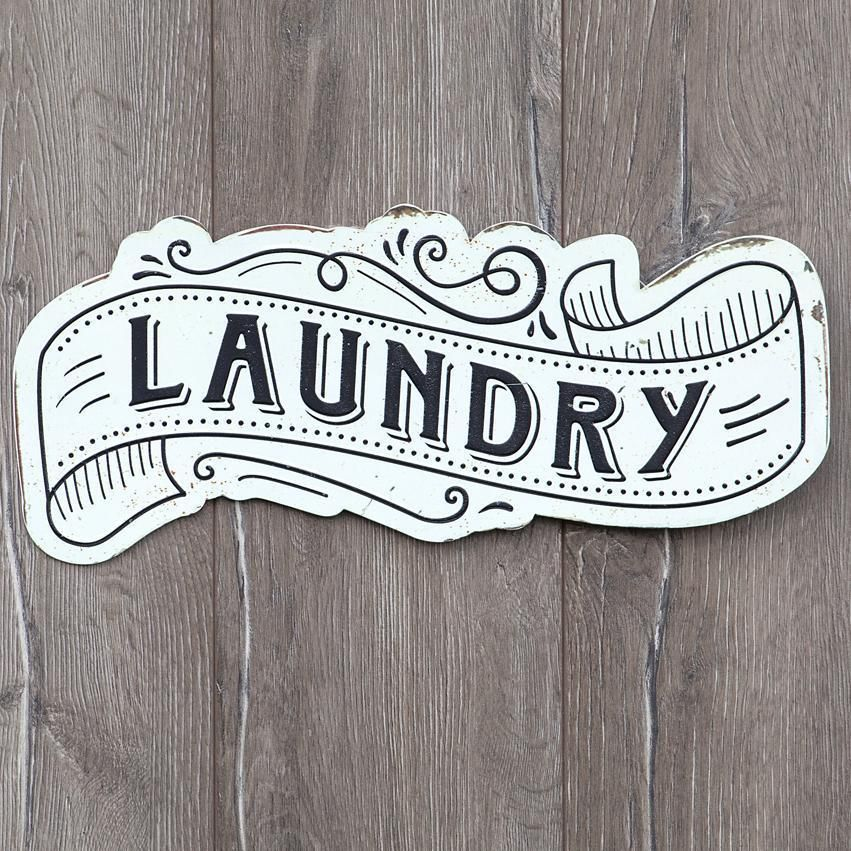 This Black And White Metal Laundry Sign Is Sure To Add A Little Retro Vintage Charm To Your Laundry Room Feat With Images Retro Laundry Room Laundry Room Signs Room Signs