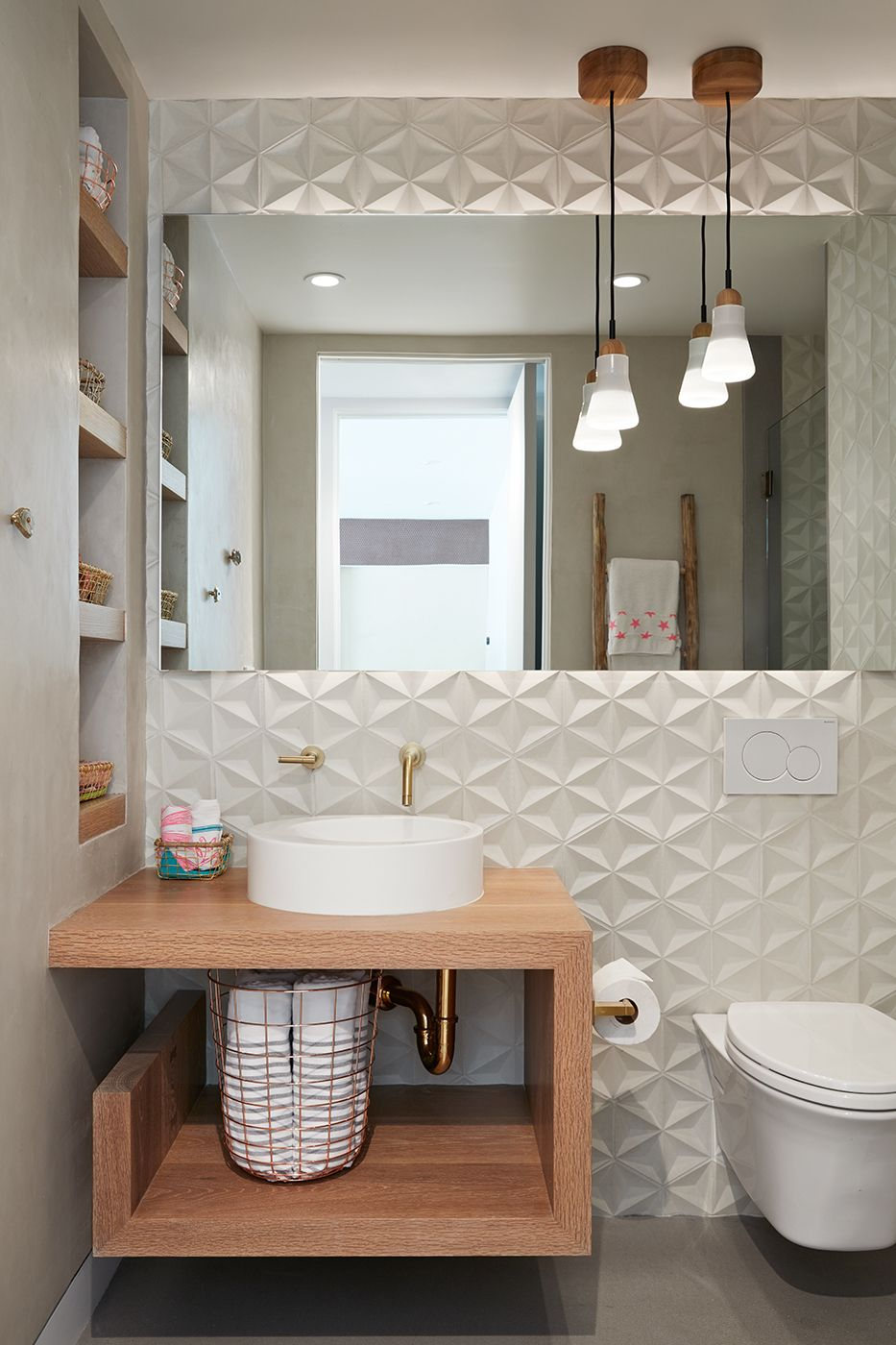 Modern Family Bathroom Ideas Part - 39: Photo 8 Of 9 In Thoughtful Design Details Warm Up A Modern Familyu2026