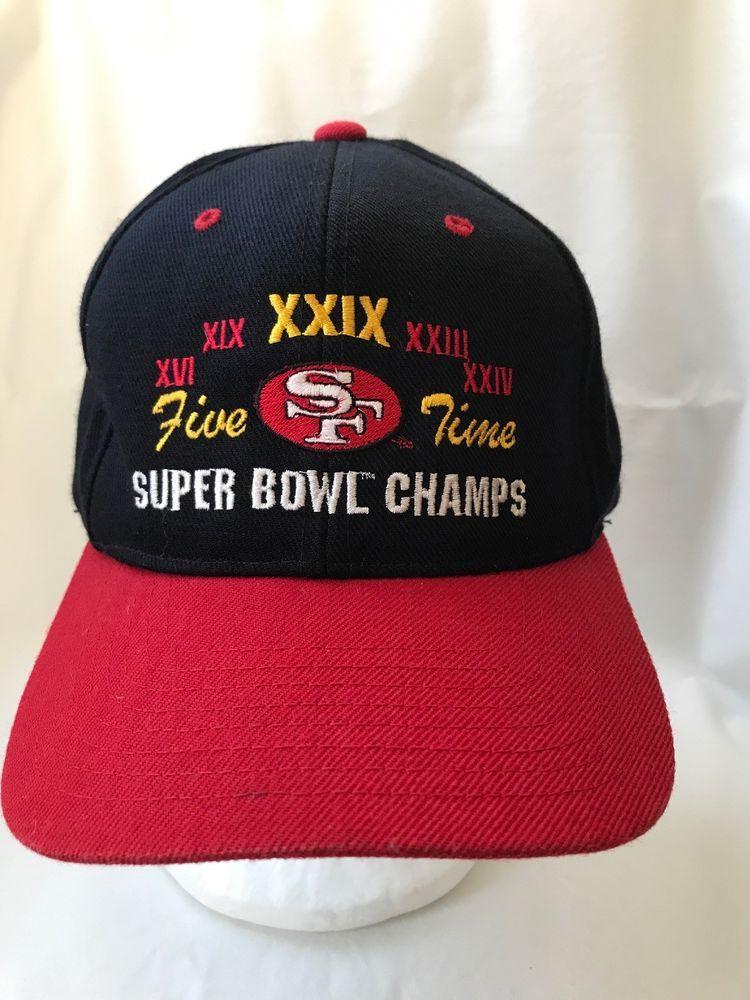 Vintage San Francisco 49ers Super Bowl Champs Baseball Hat Cap  Headmaster   BaseballCap d70e4fcf0