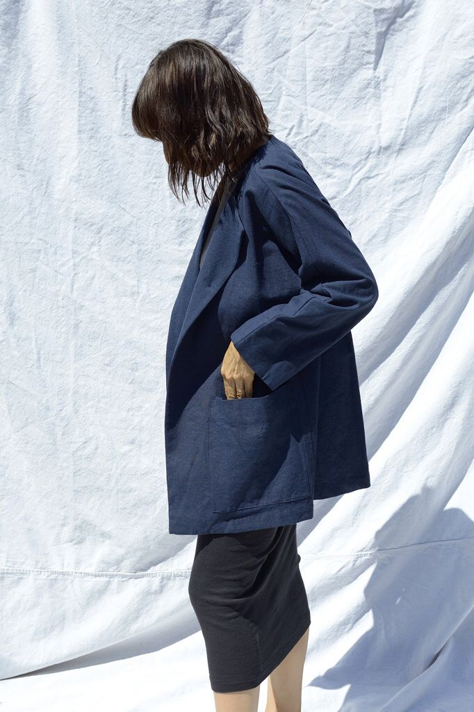 Are Studio ss16 smock jacket in navy linen
