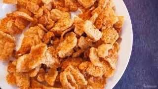 Foodie Friday: Our Pork Puffies are a true treat! Pork Puffies are seasoned pork rind pellets that when microwaved, make several cups of hot, ready to eat gourmet pork rinds. A fun way to a low carb, protein packed snack! #LaTDahBoutique #ShopLocal