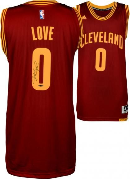 86c33c0f6d6 Kevin Love Cleveland Cavaliers Autographed Red Adidas Swingman Jersey -  Upper Deck