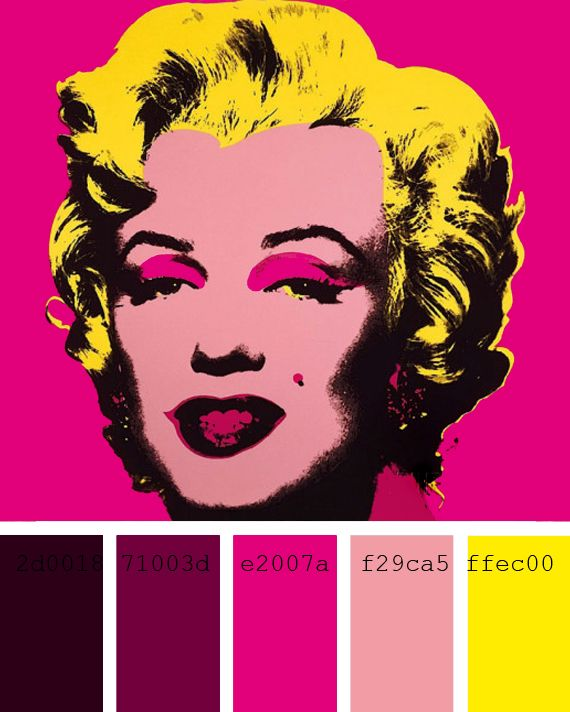Los Colores Del Pop Art Andy Warhol Colors To Color Accesorios