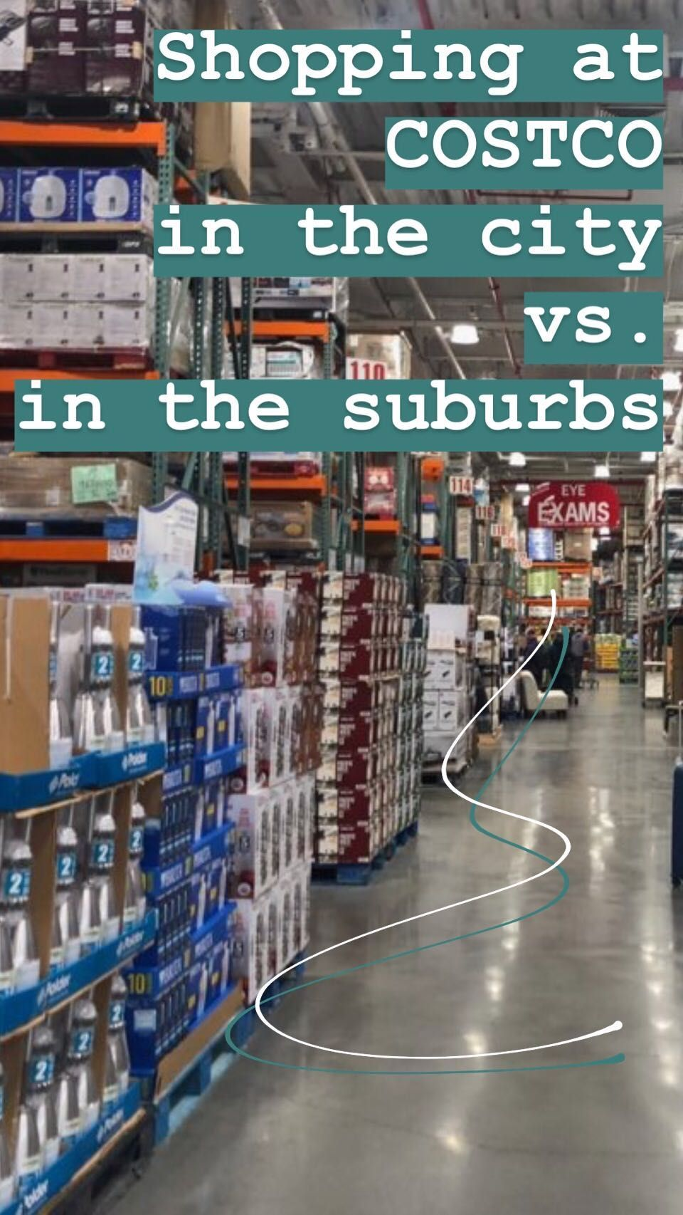 We compared shopping at Costco in the city and in the