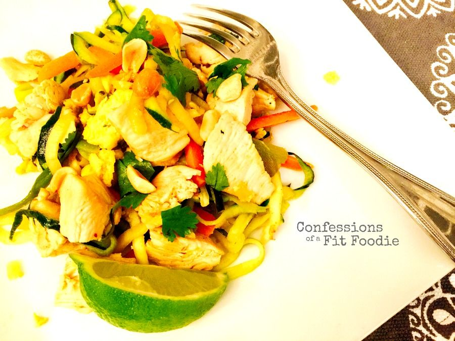 Chicken Pad Thai Zoodles 21 Day Fix Recipe On Confessions Of A