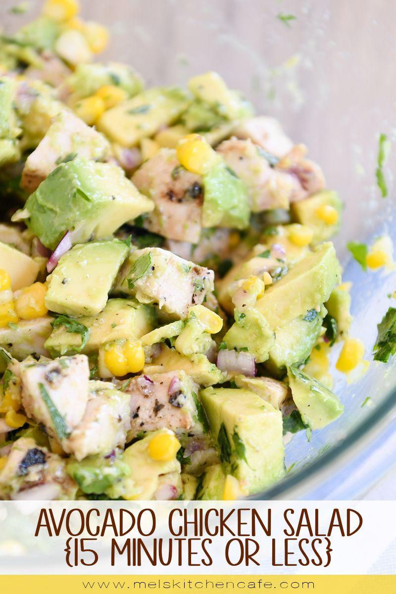 Avocado Chicken Salad Recipe Avocado Chicken Salad Salad