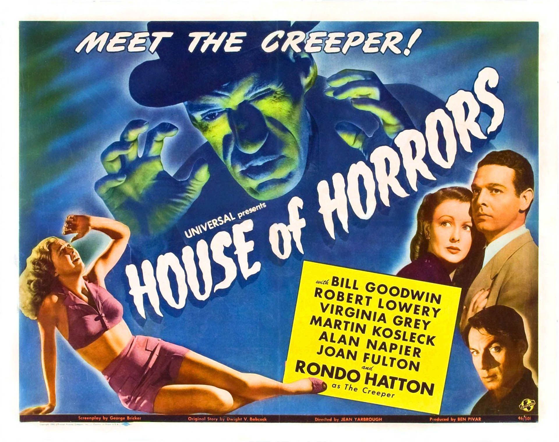 House Of Horrors Vintage 1940s Movie Posters Wallpaper Image Horror House Movie Posters Classic Horror Movies