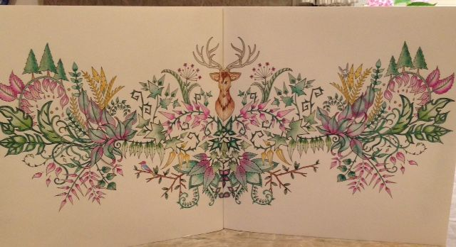 The Deer Head Picture From Enchanted Forest Coloring Book Johanna Basford Is Artist