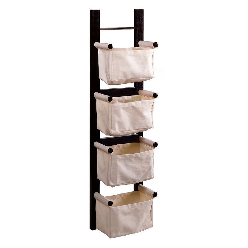 Winsome Storage And Magazine Rack, Brown