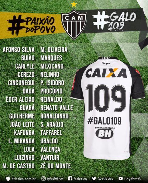No Aniversario Do Galo Jogadores Vao Homenagear Os 30 Maiores Ex Atletas Atleta Clube Atletico Mineiro Globo Esporte