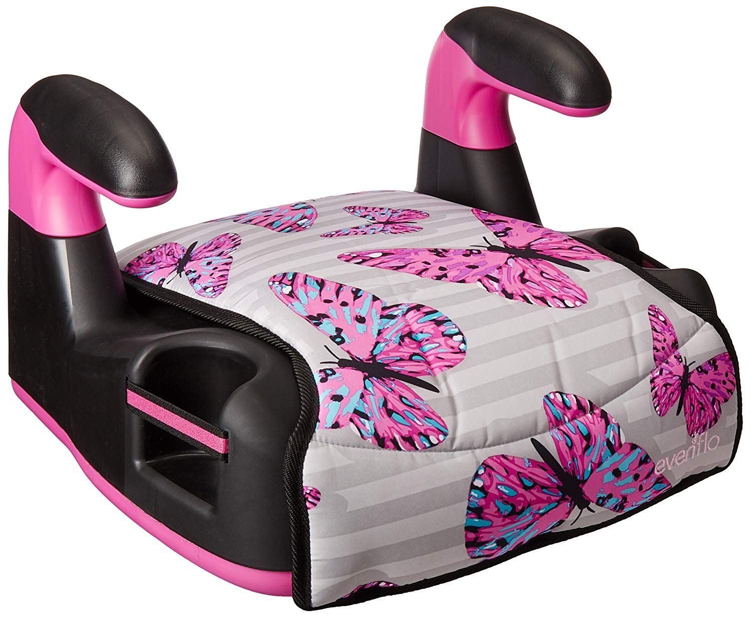Evenflo AMP Select Car Booster Seat, Butterfly Baby car