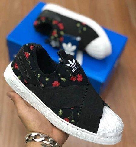 Tênis Adidas™ SuperStar SLIP ON – Feminino – Floral