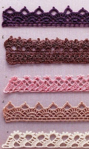 Some Crochet Edging Patterns Charted Crochet Miscellaneous