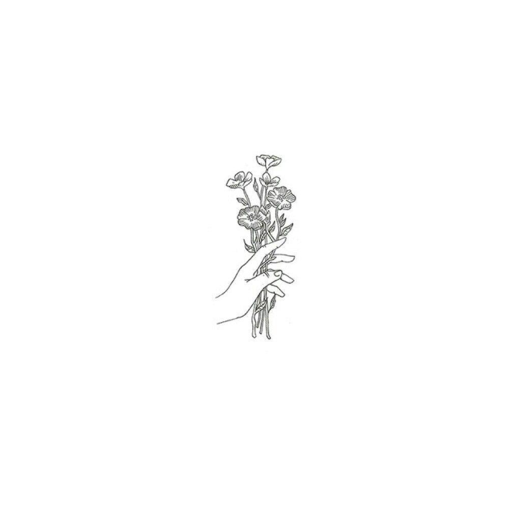 Minimalist art, flowers